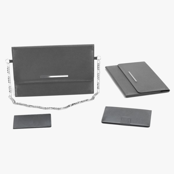 3D leather accessories wallet