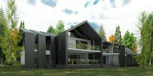 modern house 3D model