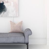 3D velvet cushion