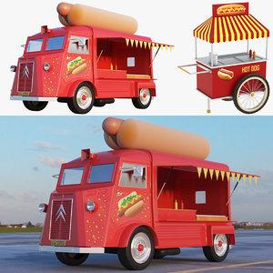 3D ice cream truck cart model