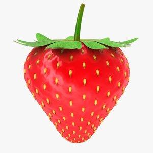 3D model realistic strawberry