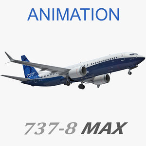 3D boeing 737-8 animation