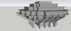 simple library 3D model