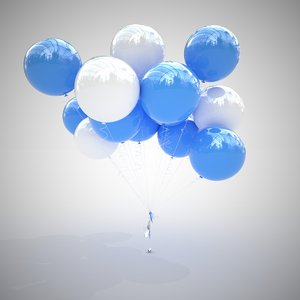 3D colorful air balloons v2