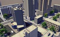 3D buildings street city blocks