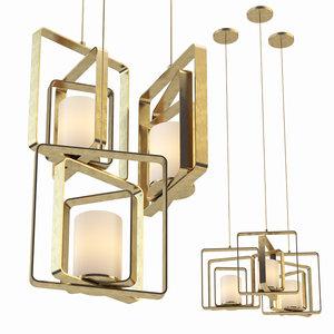 3D pendant lamp rubi romatti model