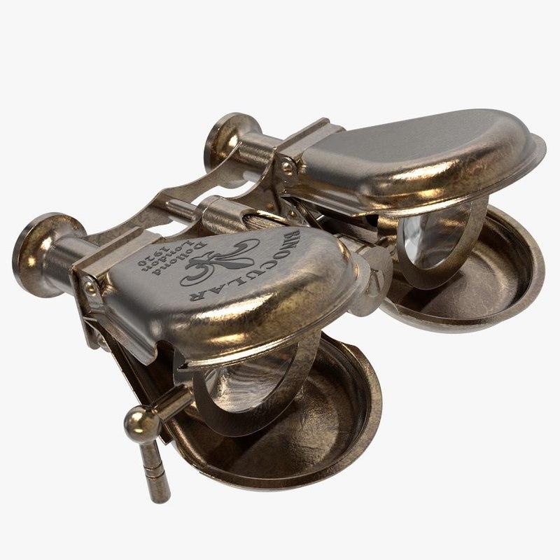antique brass nautical binocular model