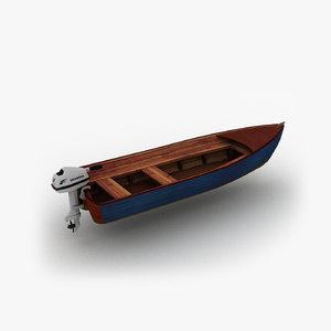 motorboat boat motor model