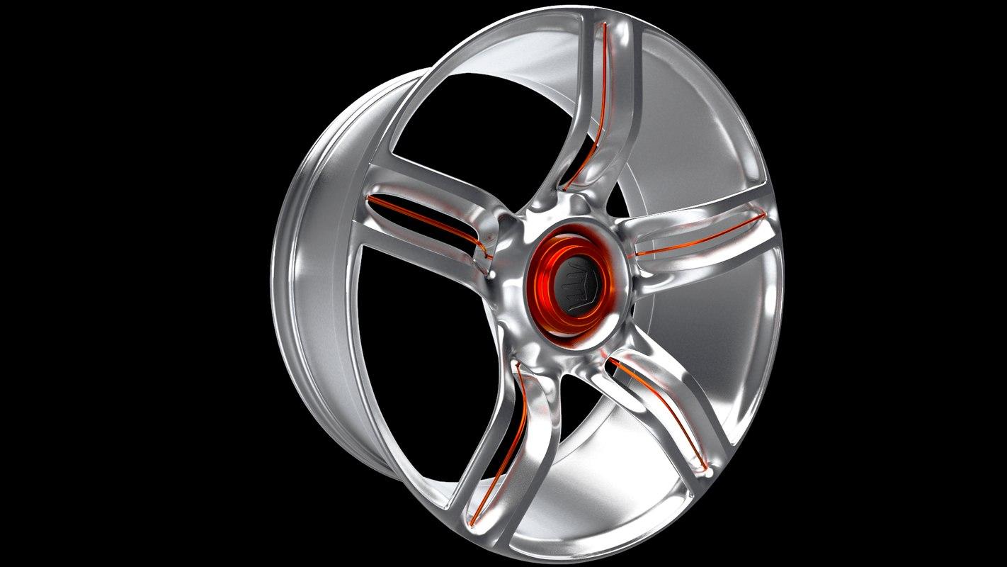 3D design sports car wheel