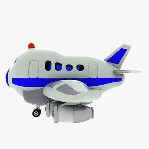 airplane plane toon 3D