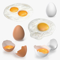 3D chicken eggs 2 model