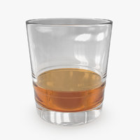 3d glass whiskey 04