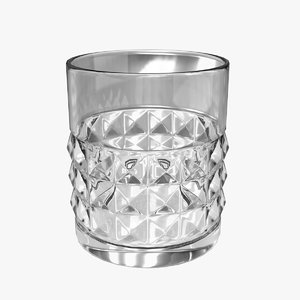 whiskey glass 05 3d 3ds