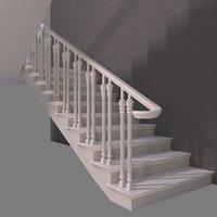 Stair white oak