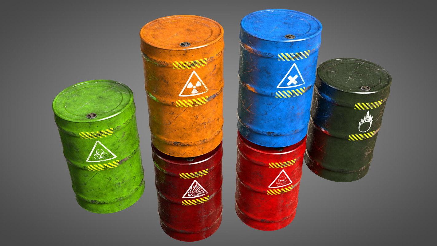 3D barrel explosive biohazard
