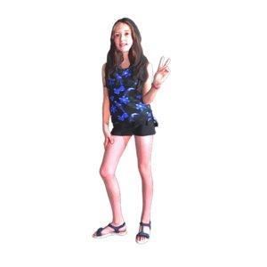 3D cool girl standing