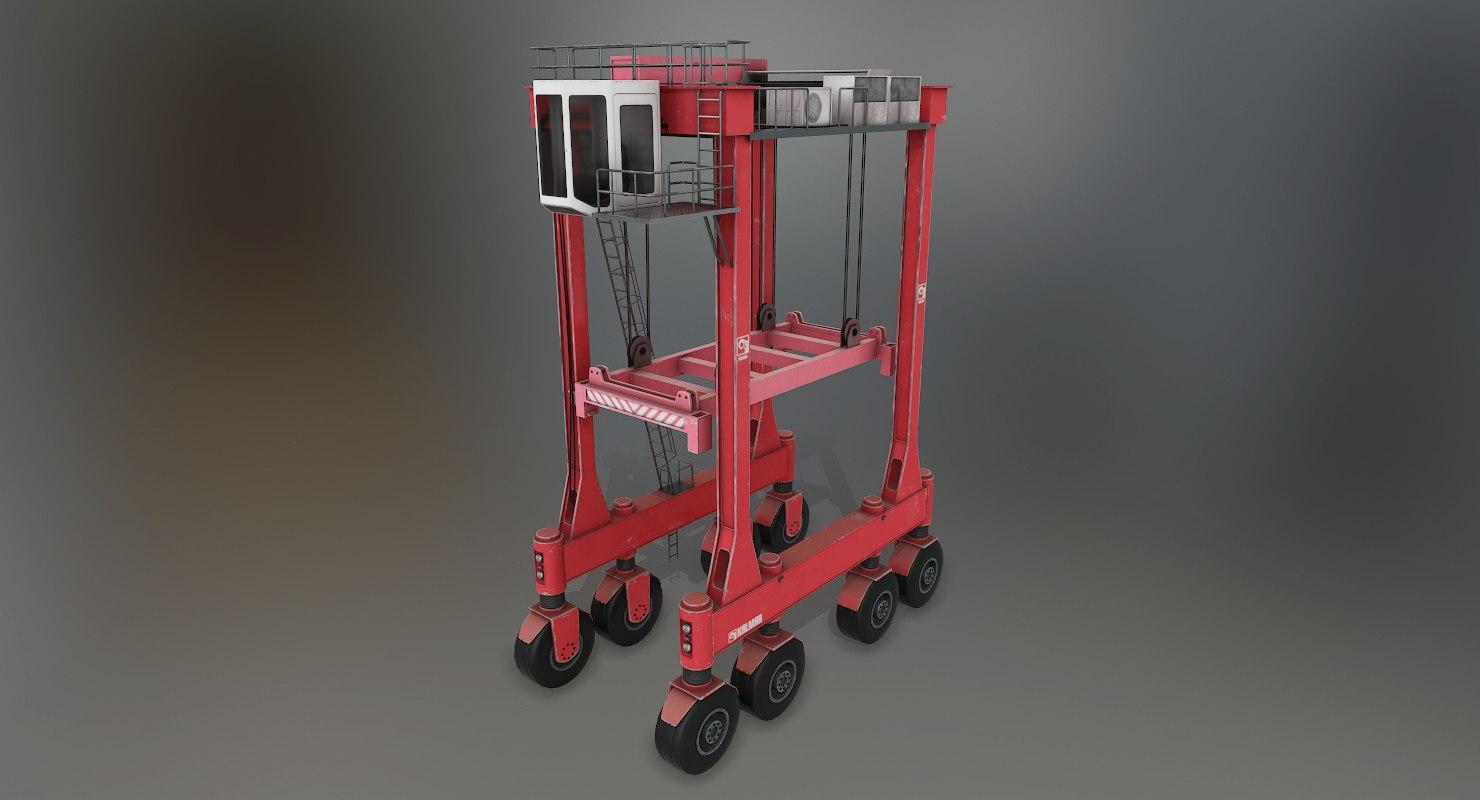 kalmar straddle carrier 3D model