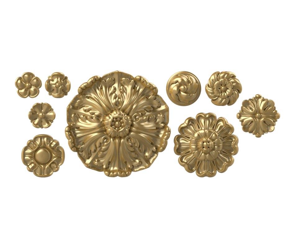 3D decorative rosette