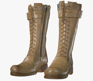 3D leather boot model