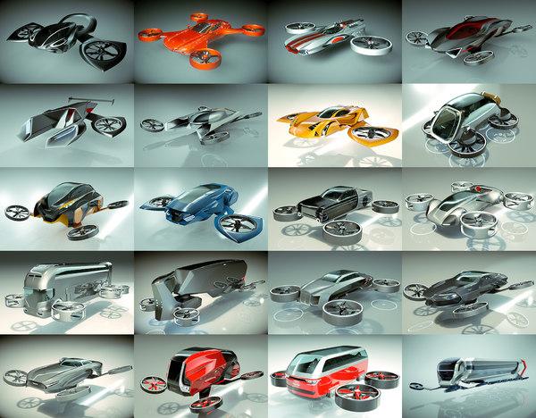 3D 20 1 cool hover car