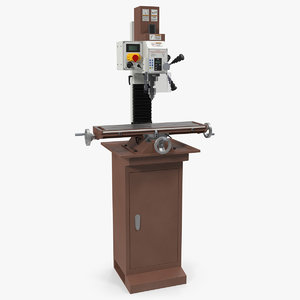 heavy duty drilling machine 3D model