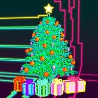 tron neon holiday tree 3D model