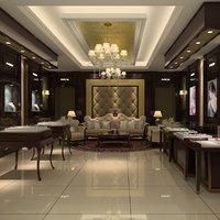 jewelry store interior model