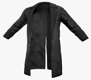 3D black coat model