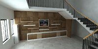 tv and stairs