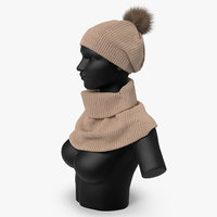 hat scarf model