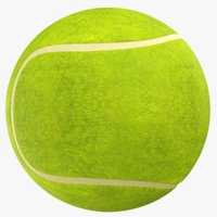 real tennis ball 3D model