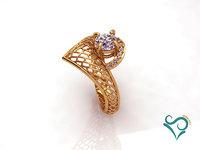3D model modeler printing ring gold