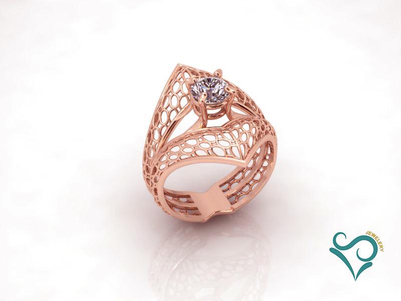 3D modeler engaged printing ring model