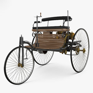 benz patent-motorwagen 1885 3D