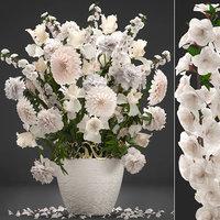 bouquet wthite flowers 3D model