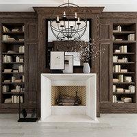 3D decorative fireplace