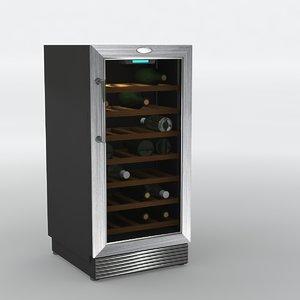 fridge wine 3D model