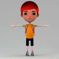 3D boy cartoon model