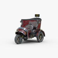 steampunk taxi concept 3D model