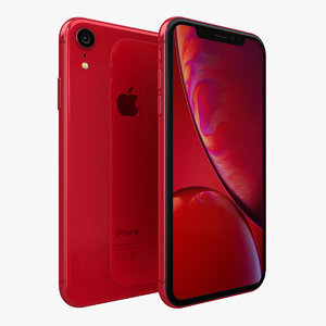 3D model apple iphone xr red