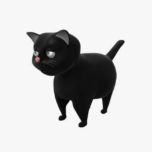 3D cartoon cat rigged