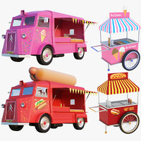ice cream truck cart 3D