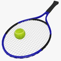 racket tennis ball 3D model