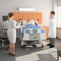 3D model hospital room scene