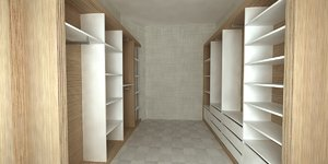 3D model dressing room design