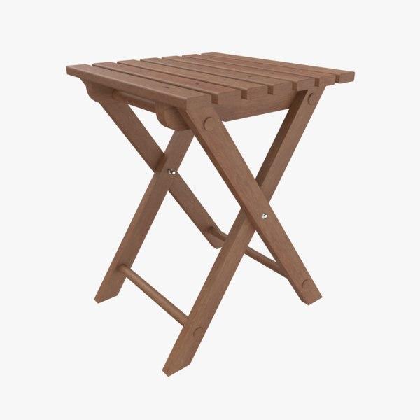 folding stool 3D model