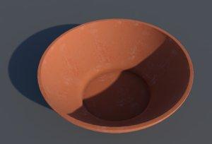 bowl clay 3D model