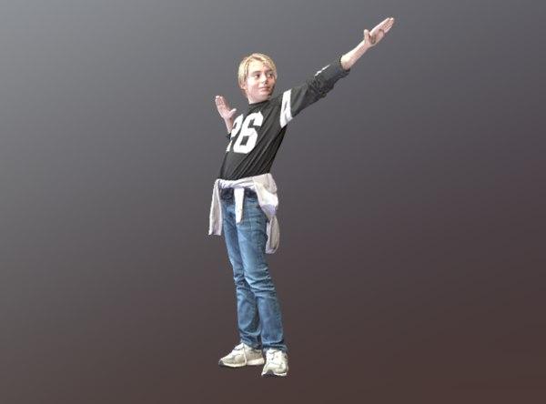 3D kid cool pose