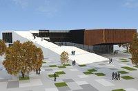 3D cultural center building