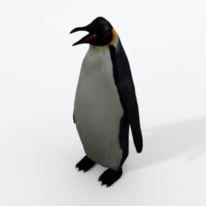 3D king penguin